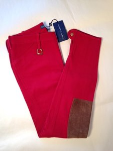 Ralph Lauren Skinny Pants Red