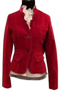 Lucky Brand Velvet Holiday Red Jacket