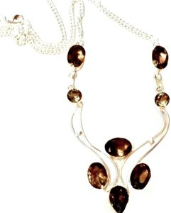 Other Smokey Topaz Sterling Silver Necklace