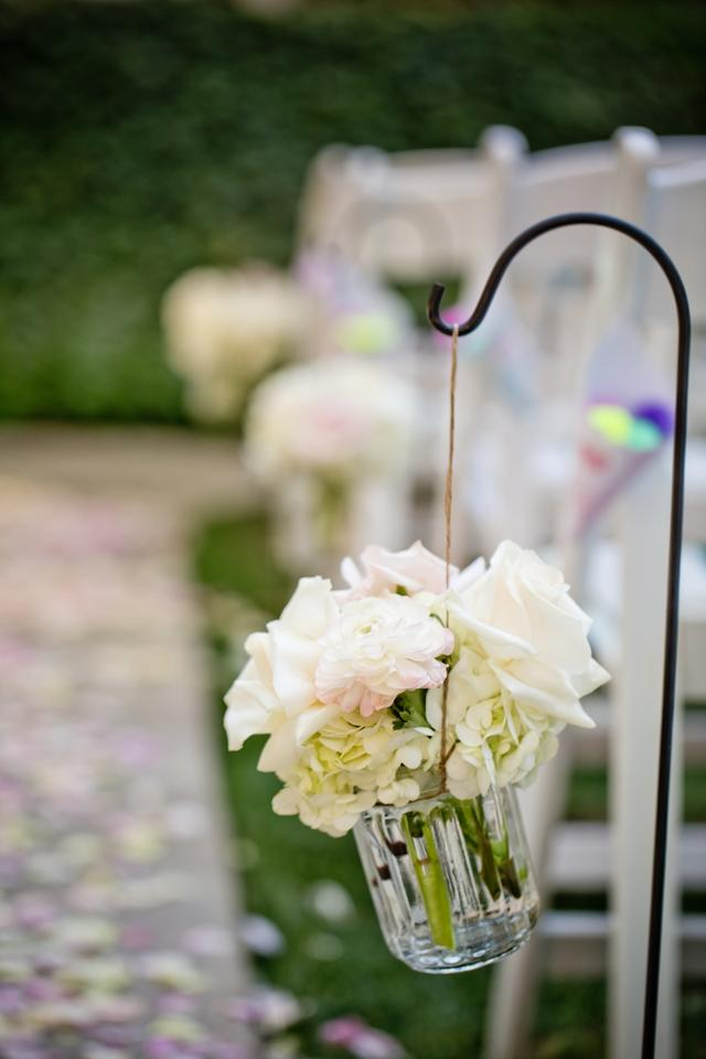 Clear With Twine Hanging Vases For Shepherd Hooks Ceremony