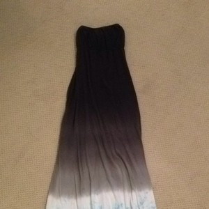 Grey/turquoise Maxi Dress by Hard Tail