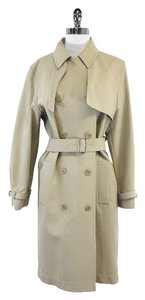 Max Mara Tan Cotton Trench Trench Trench Coat