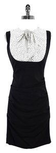 Nicole Miller short dress Black White Polka Dot Silk Silk on Tradesy