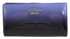 Kate Spade Kate Spade Cedar BLUE Street Patent Leather Cosmic Ombre Stacy Wallet NEW W TAGs