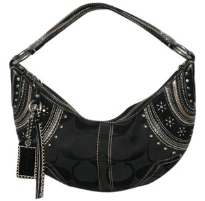 Coach Studded Signature Hobo Bag