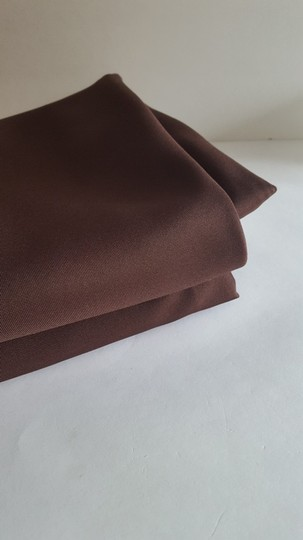 "Two 90"" Round Chocolate Brown Linens"