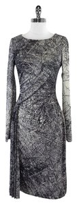 Halston short dress Grey Print Long Sleeve on Tradesy
