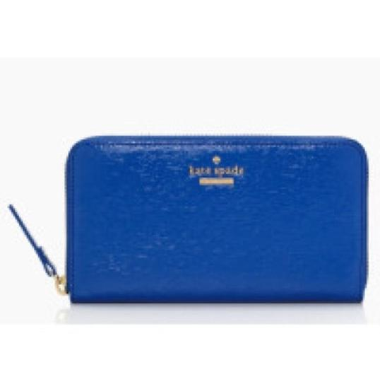 Kate Spade Kate Spade Blue Cedar St. Patent Lacey Wallet in Orbit New With Tags Image 1