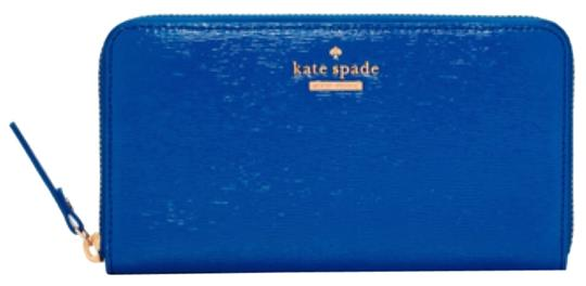 Kate Spade Kate Spade Blue Cedar St. Patent Lacey Wallet in Orbit New With Tags Image 4