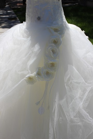 St. Pucchi White Tulle & Lace Formal Dress Size 8 (M)