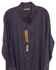 Donna Karan Button Down Shirt Blue