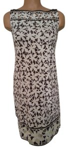Diane von Furstenberg short dress White and Brown Dvf Summer Spring Flower Eyelit on Tradesy