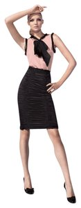 Dolce & Gabbana Club Silk Current Pencil Skirt Black