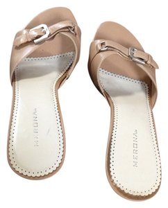 Merona Leather Nude Sandals