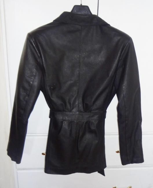LUCKY LEATHER Coat Black Genuine Leather Jacket
