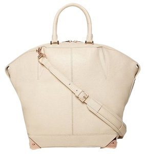 Alexander Wang Leather Tote in ivory, rose gold