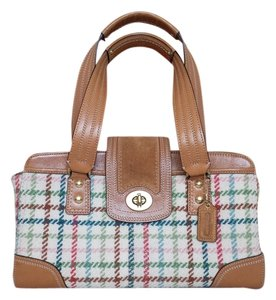 Coach Wool Leather Satchel