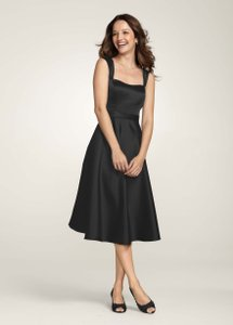 David's Bridal Black F14556 Dress