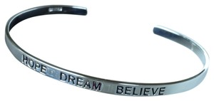 Sterling Silver Hope Dream Believe Bangle 7.3 g