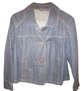 A.N.A. Jeans Blue Button Front Cardigan denim Womens Jean Jacket