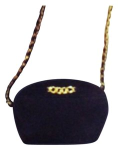 Amanda Smith Suede Suede Vintage Vintage Black Cross Body Bag
