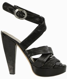 Philosophy di Alberta Ferretti Strappy Hidden Platform Black Platforms