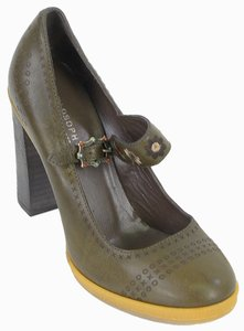 Philosophy di Alberta Ferretti Rubber Mary Jane Green Pumps