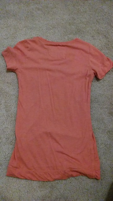 American Eagle Outfitters Bright Deep V T Shirt Orange