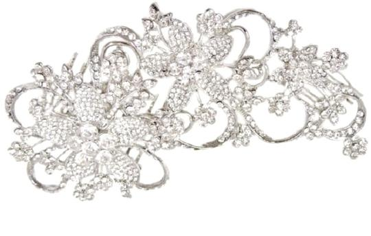 Clear Rhinestone Large Flowered Comb Hair Accessories