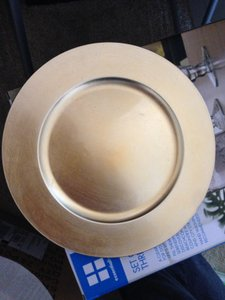 WeddingStar Inc. Gold Charger Plates Reception Decoration