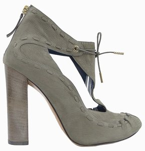 Pollini Cut-out Bootie Suede Gray Boots