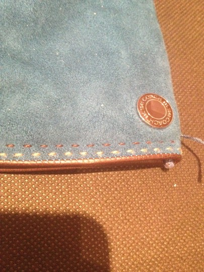 Coach Coach Teal suede and cashmere gloves size 6.5
