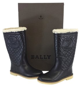 Bally Black Leather Shearling Boots