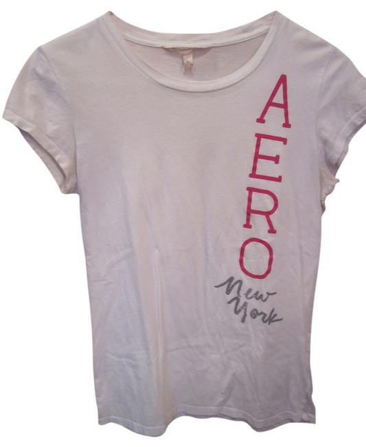 Preload https://item1.tradesy.com/images/aeropostale-white-short-sleeve-t-shirt-886140-0-0.jpg?width=400&height=650