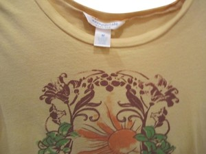 Aéropostale Medium Short Sleeve Tshrt Brown Green Aqua Blue T Shirt Yellow