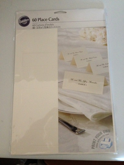 Wilton's Ivory and Silver Place Cards with Lining Other