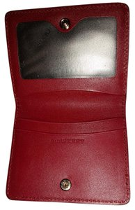 Burberry Burberry Patent London Leather Folding ID Card Case