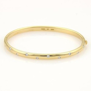 Tiffany & Co. Tiffany Co. Etoile Diamonds 18k Yellow Gold Platinum Bangle Bracelet