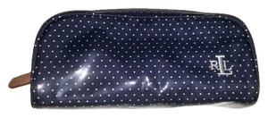 Lauren Ralph Lauren Lauren Ralph Lauren Blue and White Polka Dot Cosmetics Bag