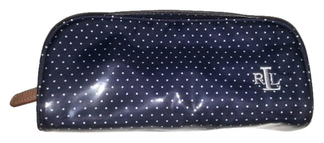 Item - Blue and White Polka Dot Cosmetic Bag
