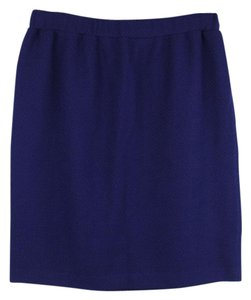 St. John Knit Knit Mini Skirt Blue