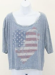Stella McCartney T Shirt Faded Red White Blue