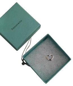 Tiffany & Co. Elsa Peretti Open Heart Sterling Silver Pendant with 16