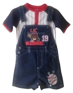 Little Rebels Little Rebels Two Piece Overalls Set. 24 Months. Cotton Blend. New