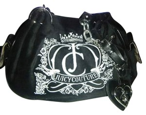 Juicy Couture Velour Signature Handbag Tote in black