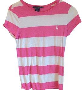 Polo Ralph Lauren White T Shirt Pink