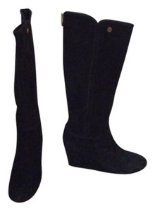 Tory Burch Suede Wedge Wedges Black Boots