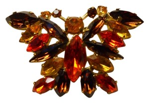Vintage Austrian crystal butterfly pin