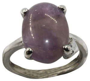Other Amethyst Gemstone Ring Size 6 Silver Plated Purple J1513