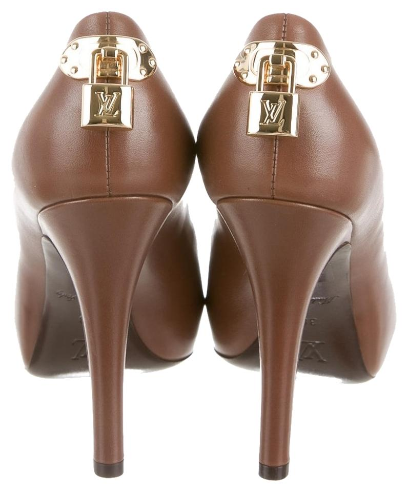 f2c65f6c89 Louis Vuitton Leather Oh Really Oh Really Really Oh Peep Toe Stiletto  Embellished 38 8 New ...